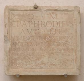 Plaque funéraire d'Epaphrodite